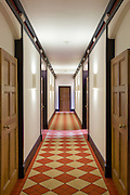 Refurbished Corridor showing new paintwork lighting, & carpet