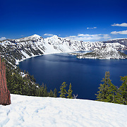 Wizard Island South Rim Overlook - Crater Lake