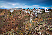 The Rio Grande River Gorge bridge west of Taos, New Mexico.