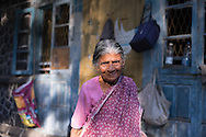 An Indian woman stands in her door step, in Mumbai, Maharashtra, India, on  March 05, 2015.<br /> Photo by Oren Nahshon