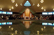 Worshippers attend Mass at St. Paul the Apostle Church in Racine, Wis. (Photo by Sam Lucero)