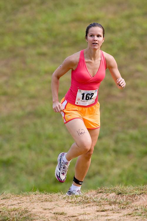 CHARLOTTESVILLE, VA - August 17, 2008 - AMANDA SLATER (162) in the 2008 Charlottesville XTERRA Triathlon was held at Walnut Creek Park in Albemarle County near Charlottesville, Virginia, USA.
