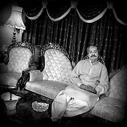 Syed Navid Qamar at home who is the current Political Federal Minister for Privatisation and senior leader of Pakistan People Party (PPP)
