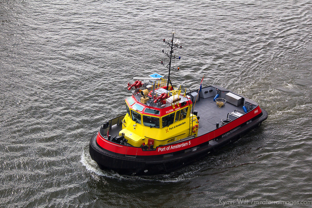 Europe, Netherlands, Amsterdam. Port of Amsterdam Pilot Boat.
