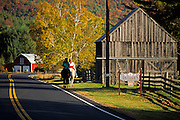 Fall image of the Vermont countryside in Sharon, Vermont, American Northeast