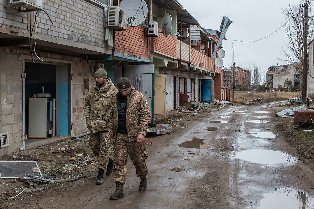 on Saturday, March 19, 2016 in Shyrokyne, Ukraine.