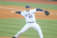 Ole Miss' Josh Laxer (20) pitches vs. Memphis at Oxford-University Stadium in Oxford, Miss. on Tuesday, February 26, 2013. Memphis won 4-3. Ole Miss falls to 7-1.