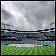 An Instagram of Camden Yards in Baltimore, Maryland.