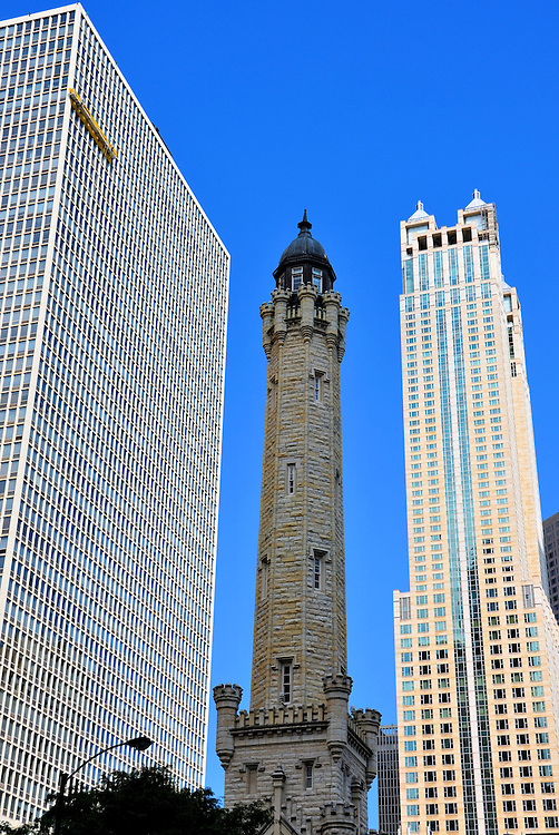 chicago water tower in chicago illinois encircle photos. Black Bedroom Furniture Sets. Home Design Ideas