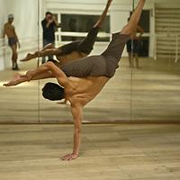 Practising Capoeira in a Bogota Academy.