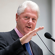 An agreement between the Department for International Development (DFID), the Governments of Rwanda and Malawi and Band Aid/The Hunter Foundation, and managed by the Clinton Hunter Development Initiative (CHDI) was launched at the DFID offices in London. Photo shows former US President Bill Clinton speaking.