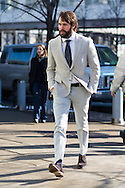 Linen Sportscoat and Knit Tie, Outside Hugo Boss FW2015