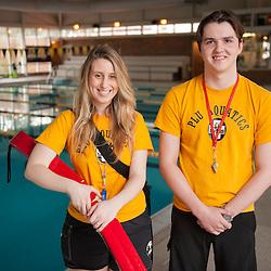 Lifeguards Anna Volk and Gray Endicott