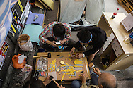 Making wrist bands in support of the ongoing pro-democracy protests in Hong Kong.