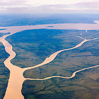 Rio Uruguay flowing into Rio de la Plata, Buenos Aires, Buenos Aires, Argentina