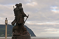 THE END OF THE TRAIL ,LEWIS AND CLARK COMMEMORATIVE STATUE, Seaside, Oregon, USA