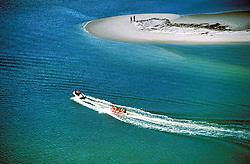 Maceio, Alagoas, Brasil. 24/07/1996..Vista aerea de passeio de Banana Boat./ Aerial View of Banana boat ride..Foto ©Marcos Issa/Argosfoto.