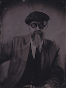 Tintype wetplate collodion plate made at Vine Street, Brighton. Michael Olden.