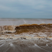 Contaminated waters of the Atlantic Ocean, right in front of the village of Regencia