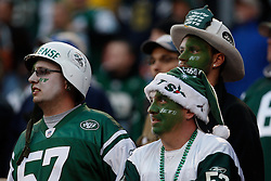 Nov 29, 2009; East Rutherford, NJ, USA; Fans of the New York Jets during the second half of the Jets game against the Carolina Panthers at Giants Stadium. The Jets defeated the Panthers 17-6.