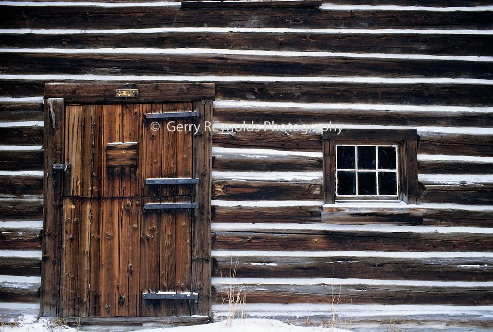 Winter Log Cabin Cabin Chinking Glacier National Park