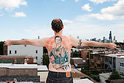 Philip Jenks and his Emily Dickinson tattoo