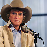 Radio host Don Imus goes through a dry run of his simulcast show --Imus in the Morning -- which started appearing on the Fox Business Channel on October 5th.