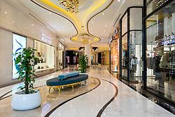 Luxury fashion boutiques inside The Lagoona Shopping Mall in Doha, Qatar