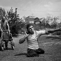 Mahumod Abu Ghanima 22 years old, training shot put. He want to be part of the paralympic team and partecipate to the Rio 2016 games. He lost both legs when a missile landeded in front of his house