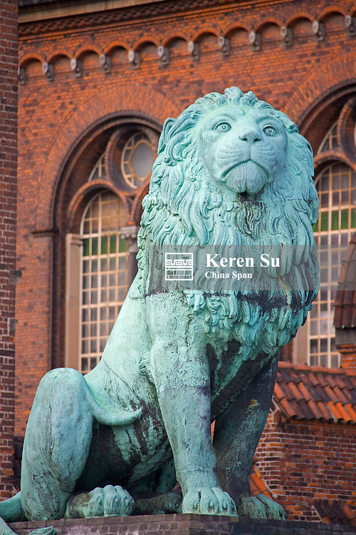 Lion statue, Copenhagen, Denmark