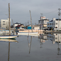 Fishing boats, in the Matsukawaura district of Soma, Japan, on Monday 23 July 2012.