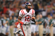 Ole Miss wide receiver Markeith Summers (16) makes a 70-yard touchdown reception in the second quarter vs. Tulane at the Louisiana Superdome in New Orleans, La. on Saturday, September 11, 2010. The play was called back because of penalty. Ole Miss won 27-13.