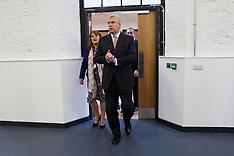 DEC 11 2014 Prince Andrew opens the new UTC building,Swindon 111214