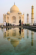 General exterior view of the Taj Mahal in Agra, India, Monday, Nov. 16, 2015. (AJ Mast)