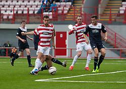 Hamilton's Anthony Andreu scoring their goal.<br /> Half time : Hamilton 1 v 0 Falkirk, Scottish Championship played today at New Douglas Park.<br /> &copy;Michael Schofield.