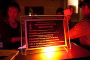Drink Menue at bar Rehab Lounge