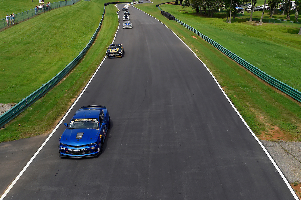 22-23 August 2014, Alton, Virginia USA<br /> Start, 01, Camaro, GS.R, GS, Eric Curran, Jordan Taylor, 32, Mustang, Boss 302 R, GS, Kurt Rezzetano, Andrew Aquilante<br /> &copy;2014, Scott R LePage <br /> LAT Photo USA