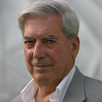 Mario Vargas Llosa, one of the world's greatest living writers, from South America...Edinburgh International Book Festival 2003..Edinburgh, Scotland.