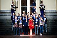 Koningspaar ontvangt medaillewinnaars
