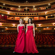 Portrait of singing duo, Bel Canto taken on stage at the King's Theatre, Glasgow.