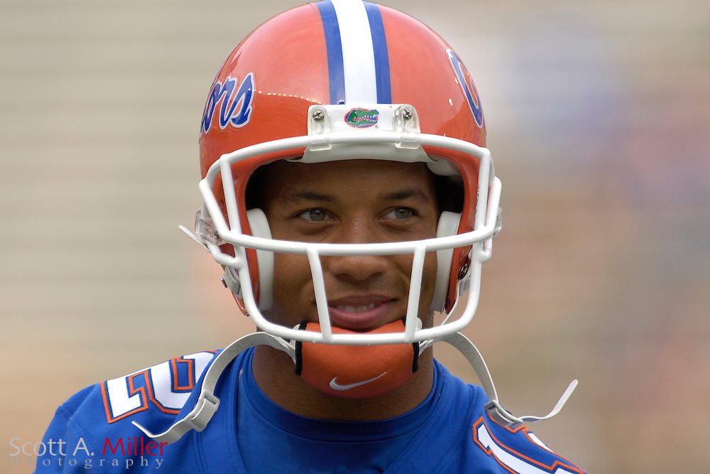 Sept. 9, 2006; Gainesville, FL, USA; Florida Gators quarterback Chris Leak warms up prior to the start of the Gators' game against the UCF Golden Knights at Ben Hill Griffin Stadium. ...©2006 Scott A. Miller