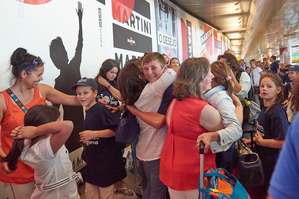 Lisboa, 17/07/2016 - Um grupo de 30 crian&ccedil;as ucranianas chega ao aeroporto de Lisboa para passar parte do ver&atilde;o com fam&iacute;lias portuguesas no &acirc;mbito do programa Ver&atilde;o Azul.<br /> (Paulo Alexandrino / Global Imagens)