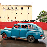 An antique car in Havana, Cuba. The government of Cuba has now banned the export of such classic vehicles, as collectors from all over the world were buying the cars and moving them to other countries.