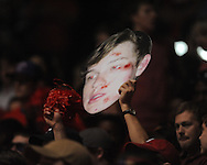 "Ole Miss fans cheer vs. Missouri at the C.M. ""Tad"" Smith Coliseum on Saturday, January 12, 2013. Ole Miss defeated #10 ranked Missouri 64-49."