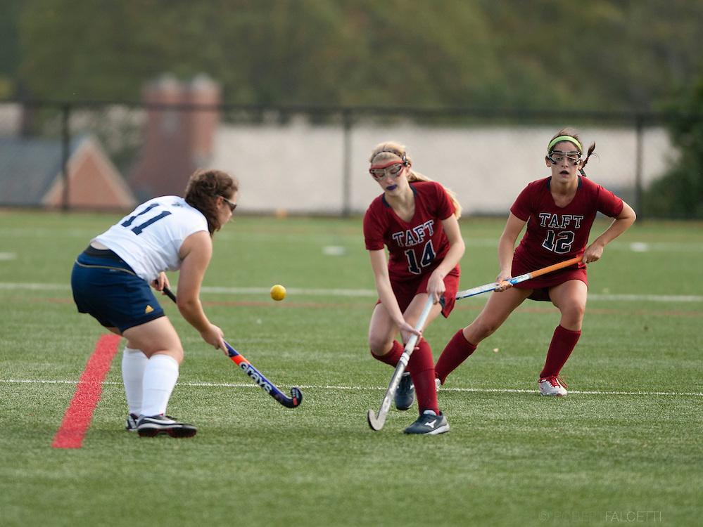 Taft School-October 12, 2013- Girls Varsity Field Hockey v Choate. (Photo by Robert Falcetti Studio)