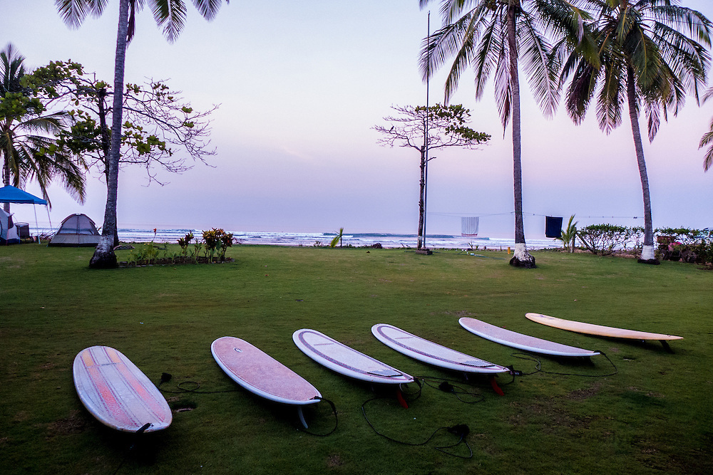Surf boards in Cost Rica