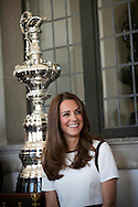 The Duchess of Cambridge attended a breakfast reception at The National Maritime Museum in Greenwich. The Duchess met supporters of the bid to launch a British Team for the America's Cup, headed by Sir Ben Ainslie. The Duchess met crew and boat designers before viewing an America's Cup class boat at the museum.<br /> <br /> Picture shows Duchess of Cambridge<br /> <br /> Credit: Lloyd Images<br /> Rights free for editorial use.