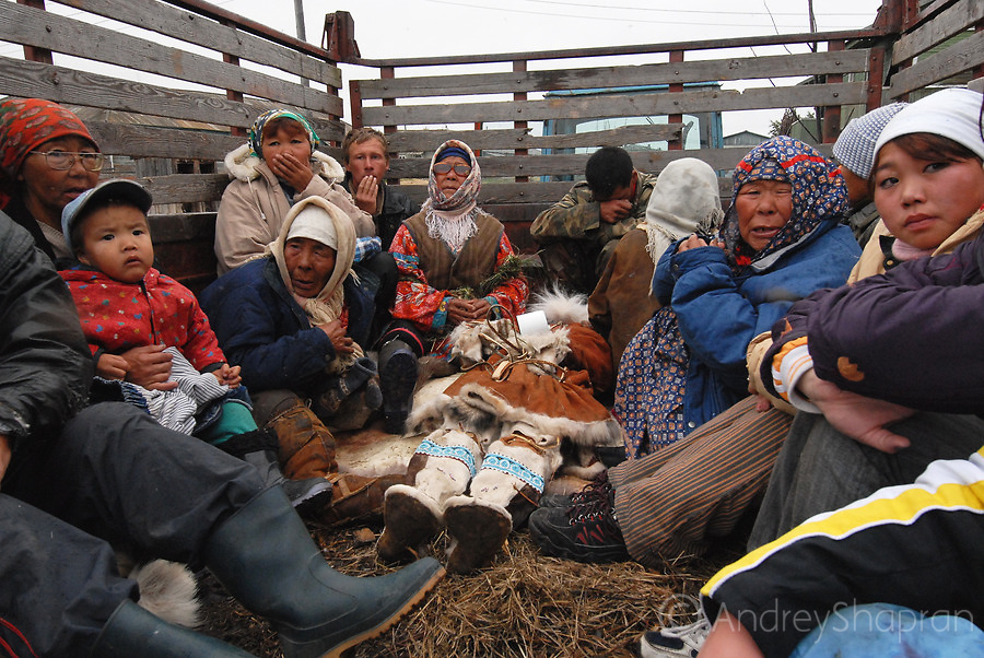 Chukchi funeral. The Kamchatka Peninsula, Russia