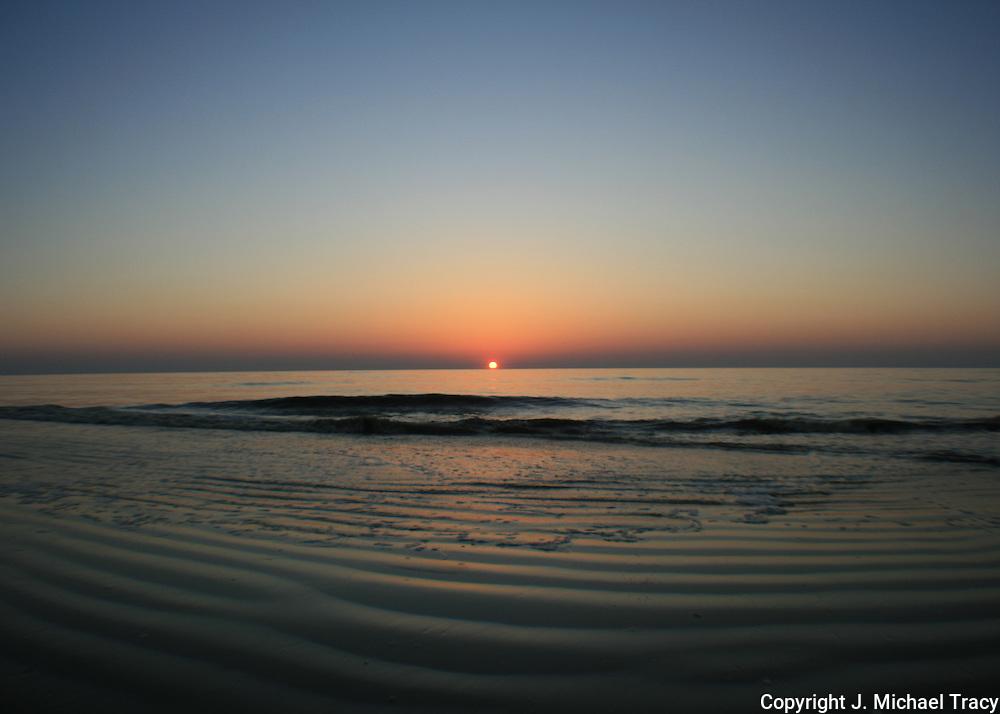 Jekyll Island sunrise as seen through a Opteka Semi Fisheye lens