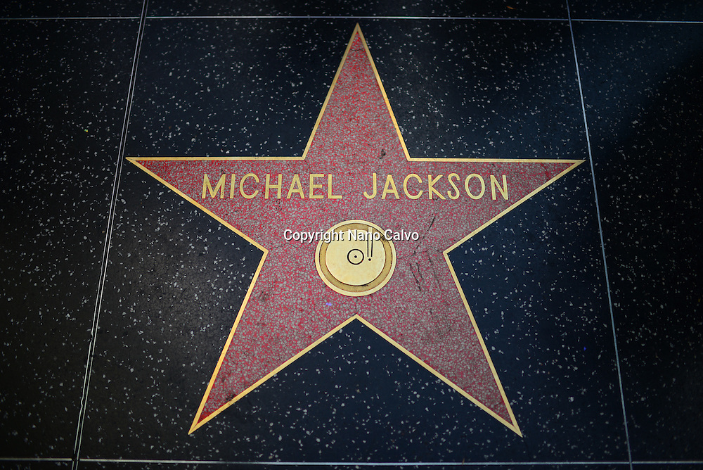 Michael Jackson star in Hollywood Walk of Fame, Los Angeles, California.